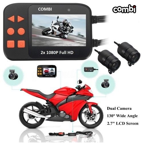 COMBI MOTOR-CYCLE 2 Channel DUAL CAM FULL 1080P HD