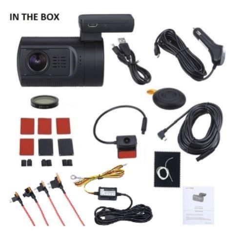 Mini 0906 Dual Lens 2x 1080P Full HD Dash Cam with GPS