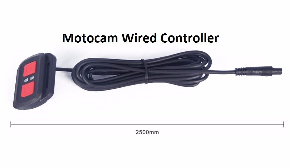 V-Sys Motocam M2F wired controller with 2m cable