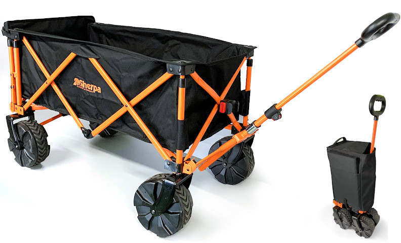 Sherpa Folding Cart with Tailgate End